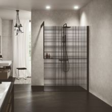 Shower spaces - Kuadra H Frame printed glass